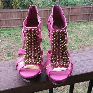 Liliana Pink Wedge Shoes